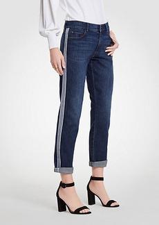 Side Striped Girlfriend Jeans