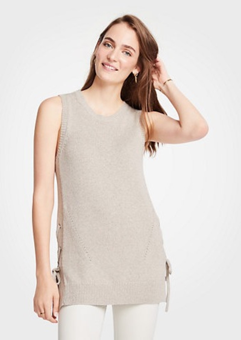 Ann Taylor Side Tie Sleeveless Sweater Tunic