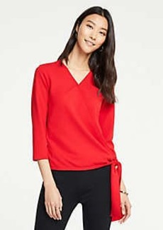 Ann Taylor Side Tie Wrap Top