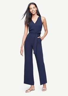 Ann Taylor Sleeveless Belted Jumpsuit