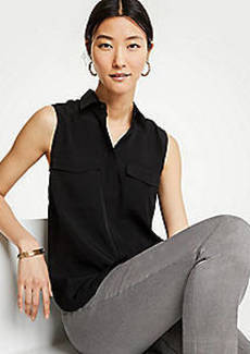 Ann Taylor Sleeveless Camp Shirt