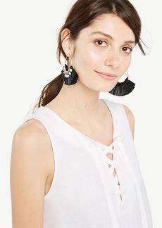 Sleeveless Lace-Up Peplum Top