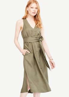 Ann Taylor Sleeveless Midi Shirt Dress