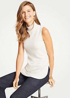 Ann Taylor Sleeveless Mock Neck Tunic