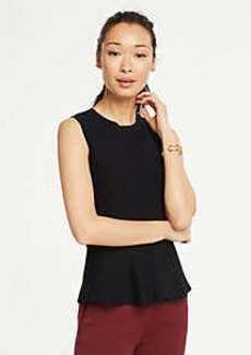 Ann Taylor Sleeveless Peplum Sweater