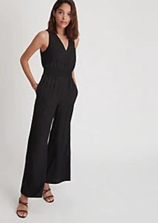 Ann Taylor Sleeveless Smocked Jumpsuit
