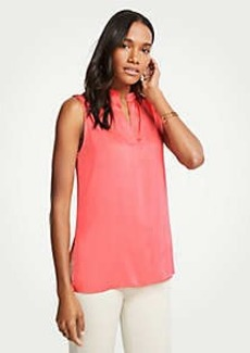 Ann Taylor Sleeveless Split Neck Top