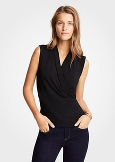 Ann Taylor Sleeveless Wrap Top
