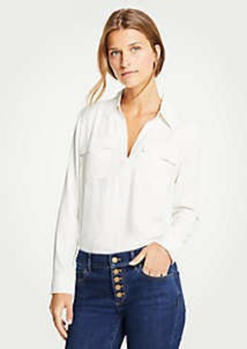 Ann Taylor Slim Camp Shirt