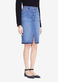 Ann Taylor Slit Denim Pencil Skirt
