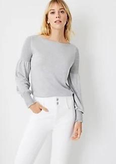 Ann Taylor Smocked Shoulder Sweater