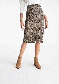 Ann Taylor Snake Print High Waist Pencil Skirt