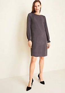 Ann Taylor Snake Print Smocked Cuff Shift Dress