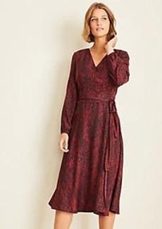 Ann Taylor Snake Print Wrap Dress