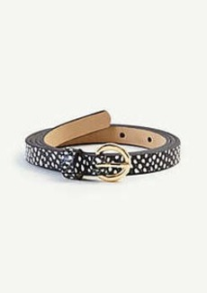 Ann Taylor Snakeskin Print Leather Belt