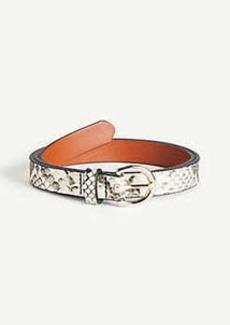 Ann Taylor Snakeskin Print Trouser Belt