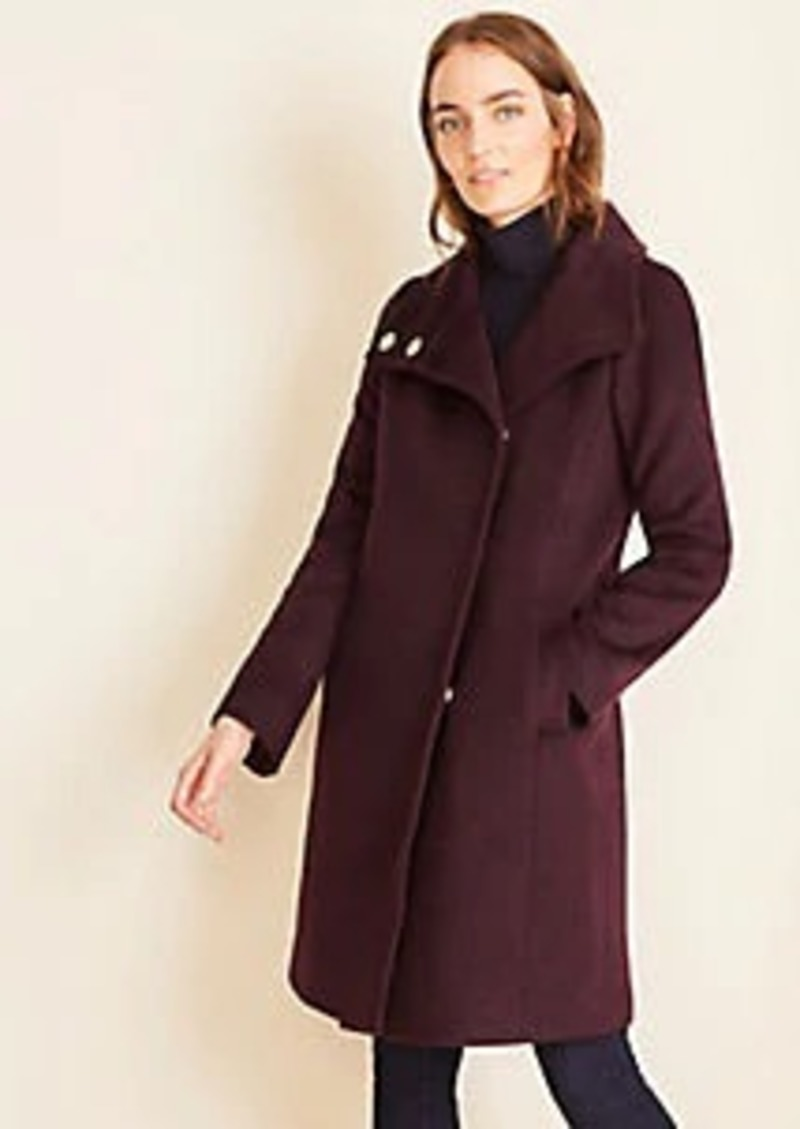 Ann Taylor Snap Funnel Neck Coat