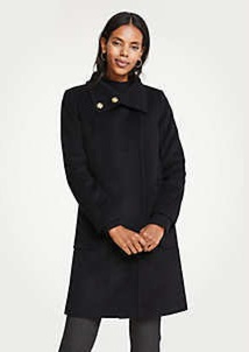 Ann Taylor Snappy Funnel Neck Coat