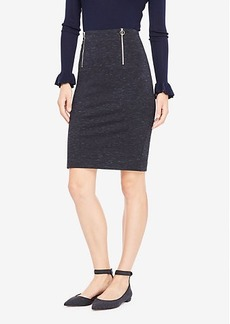 Ann Taylor Spacedye Front Zip Pencil Skirt