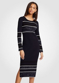 Ann Taylor Spacedye Striped Sweater Dress