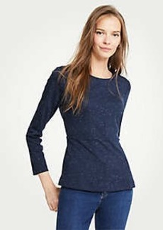 Ann Taylor Speckled Peplum Top