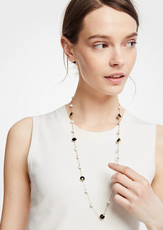 Ann Taylor Sphere Station Necklace