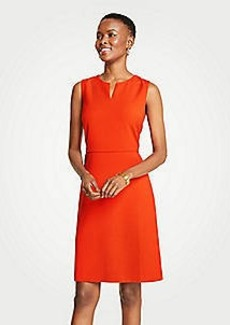Ann Taylor Split Neck Sheath Dress