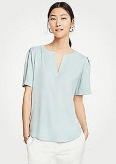 Ann Taylor Split Neck Tee