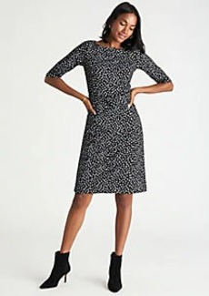 Ann Taylor Spotted Belted Sheath Dress