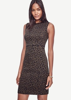 Spotted Jacquard Sheath Dress