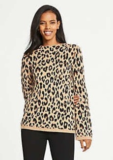 Ann Taylor Spotted Mock Neck Sweater