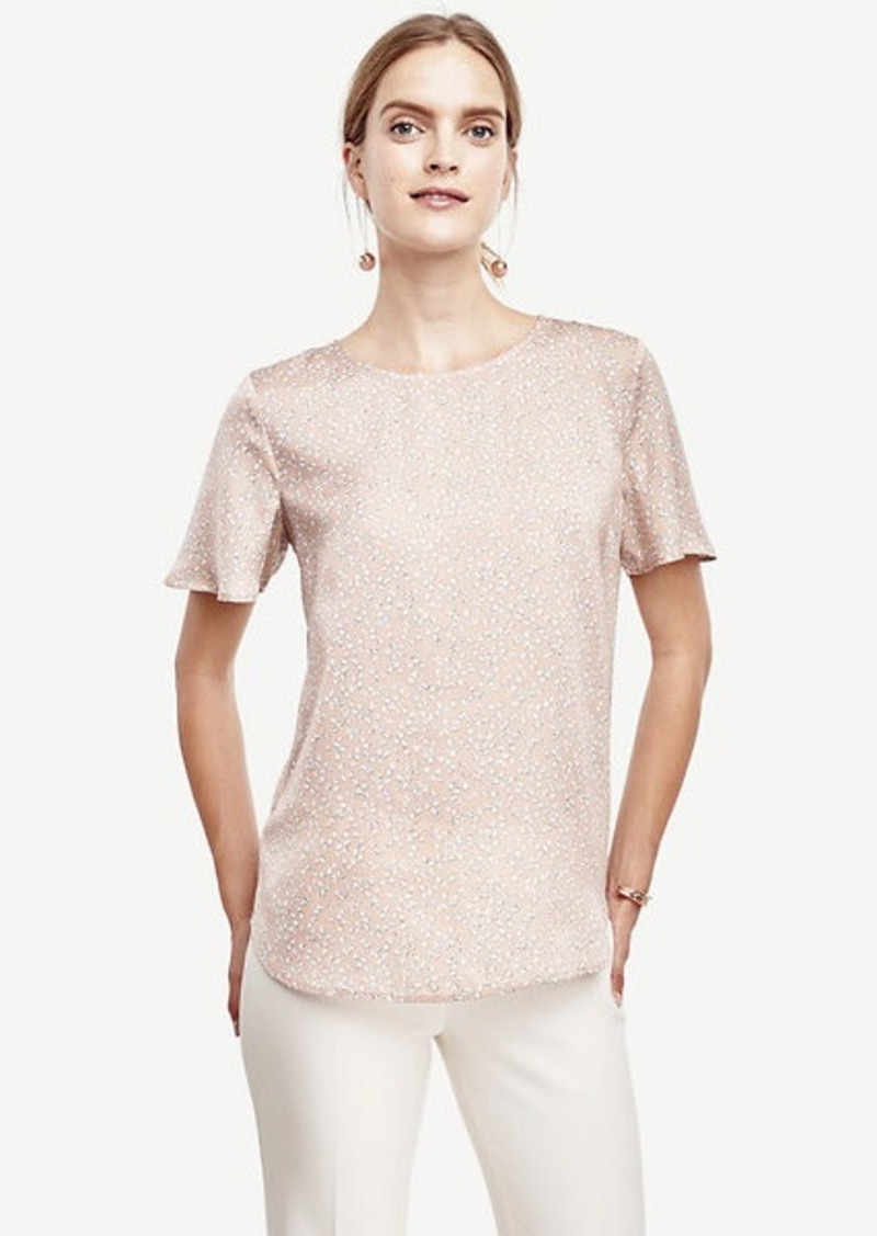 Ann Taylor Spotted Polished Tee