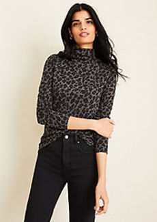 Ann Taylor Spotted Turtleneck Top
