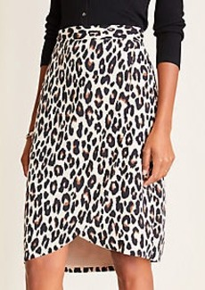 Ann Taylor Spotted Wrap Skirt