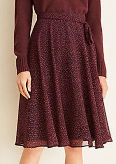 Ann Taylor Square Dot Full Skirt