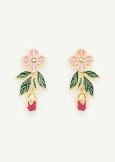Ann Taylor Square Flower Leaf Earrings