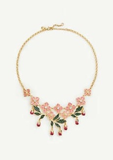 Ann Taylor Square Flower Leaf Necklace