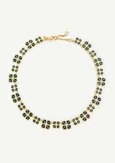 Ann Taylor Square Flower Necklace