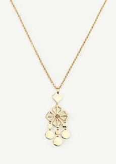 Ann Taylor Square Flower Pendant Necklace
