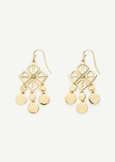 Ann Taylor Square Flower Statement Earrings