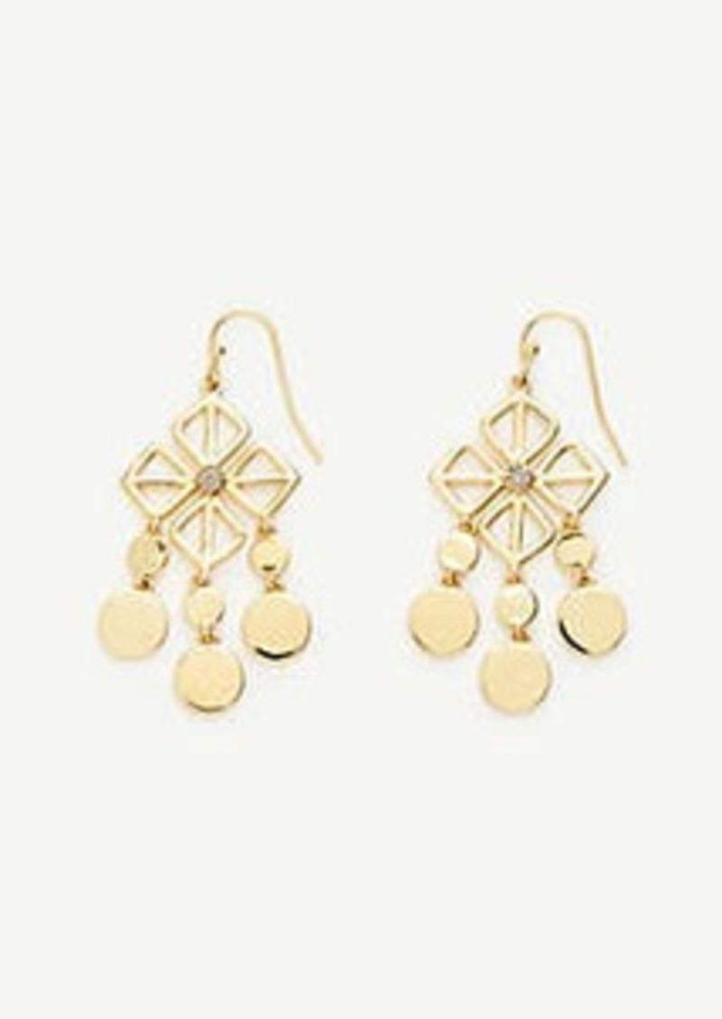 Ann Taylor Square Flower Statement Earrings