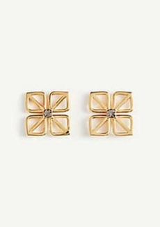 Ann Taylor Square Flower Stud Earrings