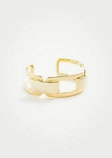 Ann Taylor Square Metallic Cuff Bracelet