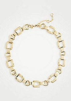 Ann Taylor Square Metallic Necklace