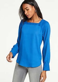 Ann Taylor Square Neck Blouse