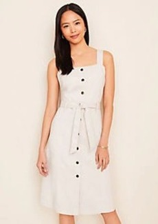 Ann Taylor Square Neck Button Dress