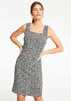 Ann Taylor Square Neck Knit Ponte Sheath Dress