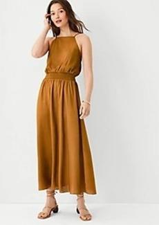 Ann Taylor Square Neck Midi Flare Dress