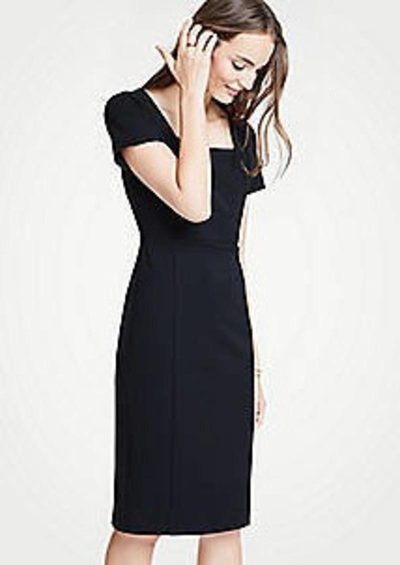 Ann Taylor Square Neck Ponte Sheath Dress