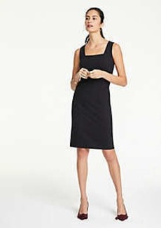 Ann Taylor Square Neck Ponte Sheath Dress
